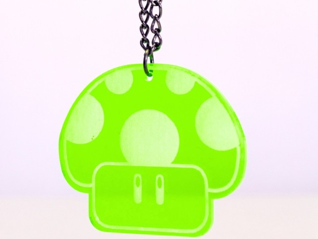1UP Fluro Green Necklace