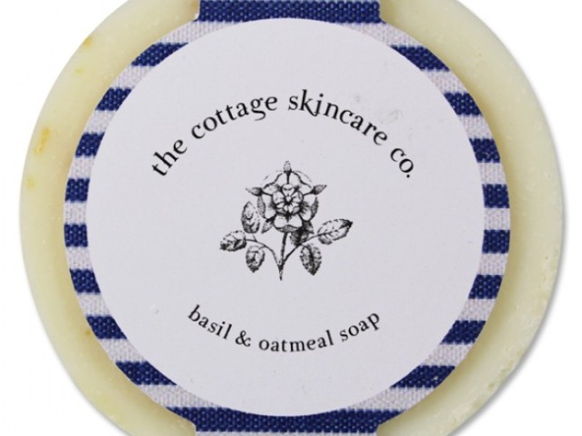 The Cottage Skincare Company – Basil & Olive Oil Round Soap – 60g
