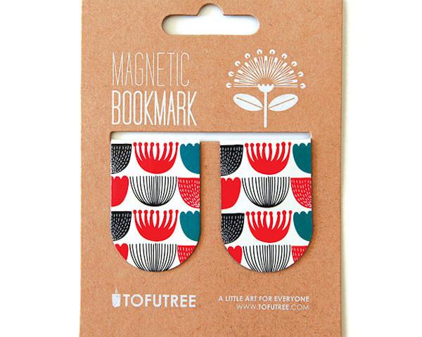 Tofutree Magnetic Bookmark Pohutukawa