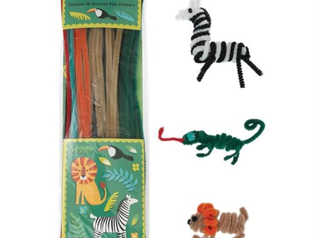 WILD ANIMAL PIPE CLEANER SET