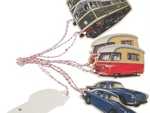 VINTAGE TRANSPORT GIFT TAGS (SET OF 6)