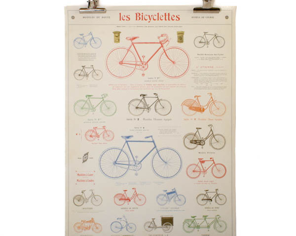 Cavallini Bicycle Poster