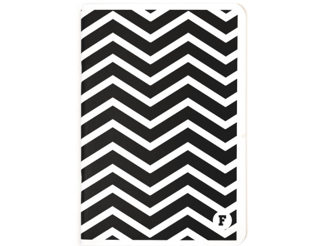 Black Chevron A5 Notebook
