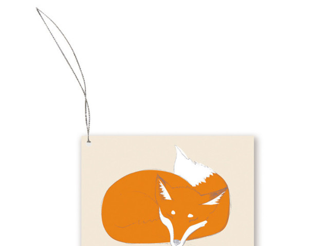 Sleepy Fox Gift Tag