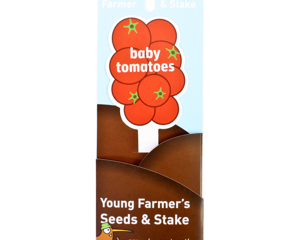 Young Farmer Seeds and Stake Baby Tomatoes