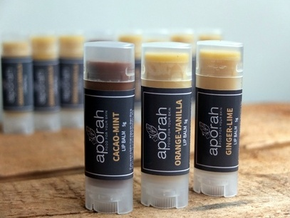 Cacao-Mint & Orange-Vanilla & Ginger-Lime Lip Balms