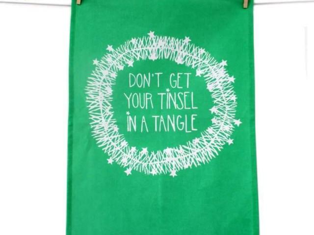 Tea Towel – Dont get you Tinsel in a Tangle