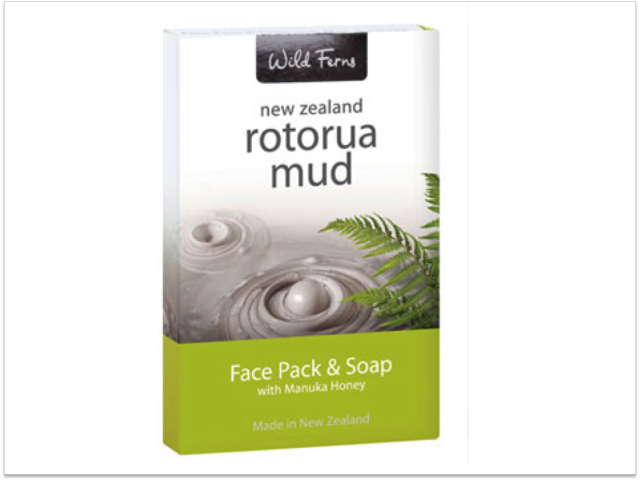 Wild Ferns Rotorua Mud Pack – Face Pack 10gm & Soap 25gm