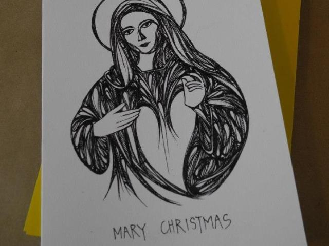Mary Christmas – card