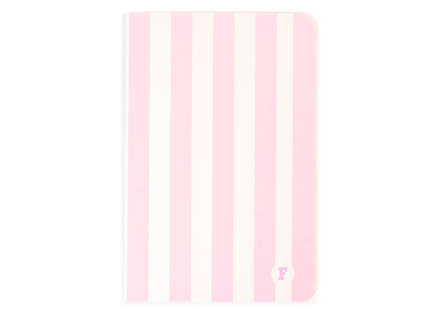 Pink Stripes A5 Notebook