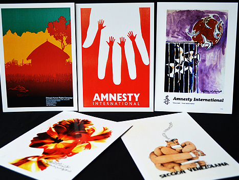 10 x Postcard Set (50 Years of Amnesty Poster Exhibition)