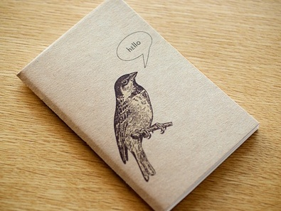 Hello Birdy Large Notebook